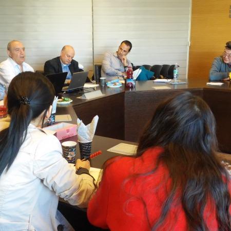 """משמאל לימין: גב' אירינה בוצ'בר-ציגלמן, פרופ' מאיר חטינה, ד""""ר רוני שקד, ד""""ר דוד גוברין"""